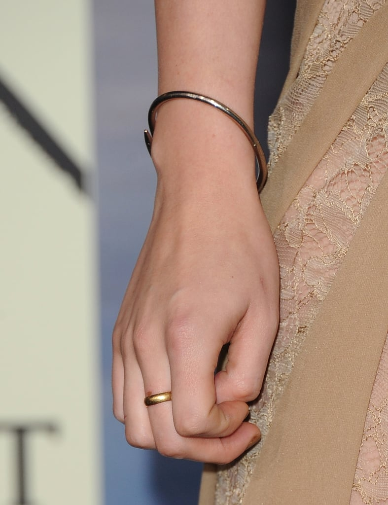 Fact: Kristen hasn't parted ways with her favourite Cartier Juste un Clou bracelet at any of her Breaking Dawn Part 2 promo stops. It's her go-to statement piece.