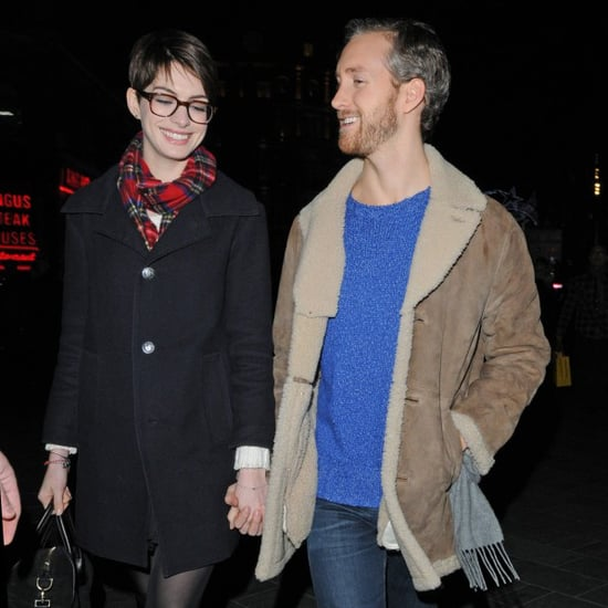 Anne Hathaway and Adam Shulman Show PDA in London