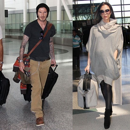 Victoria Beckham Baby Bump Pictures at LAX