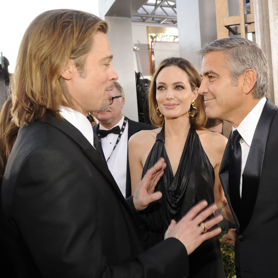 Brad, Angelina, George, & Stacy Together SAGs Pictures