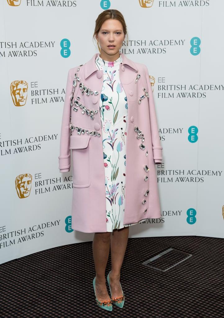 Léa Seydoux in Miu Miu at the EE Rising Star nominations.