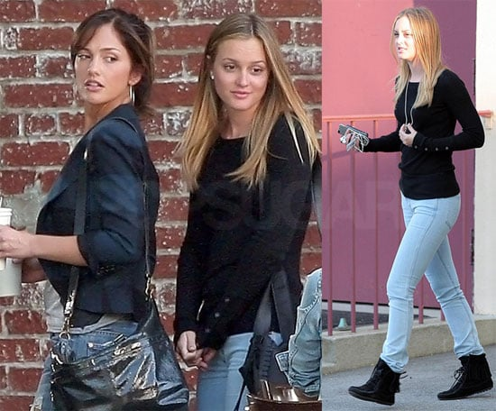 Photos of Leighton Meester and Minka Kelly Filming The Roommate