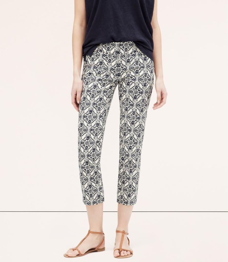 LOFT Mosaic Basketweave Cotton Riviera Pants ($70)