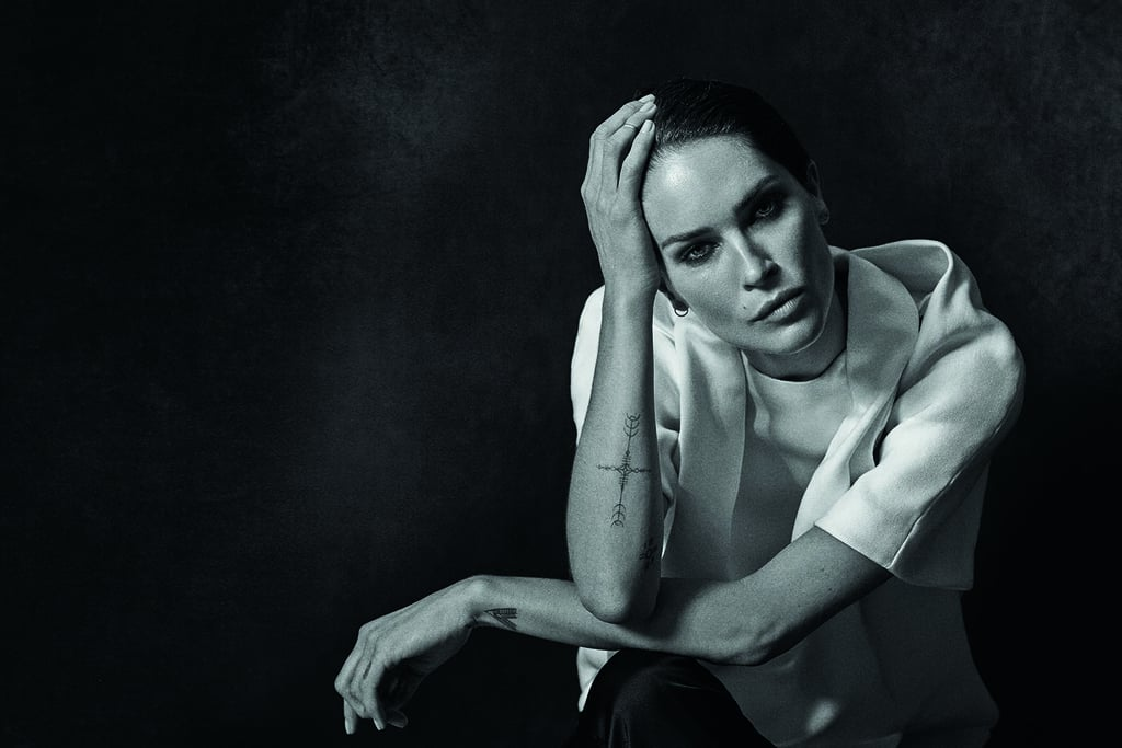 Erin Wasson, wearing Alexander Wang, photographed by Peter Lindbergh. Photo courtesy of the CFDA