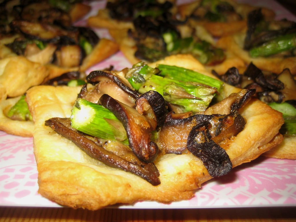 Mushroom Asparagus Tarts