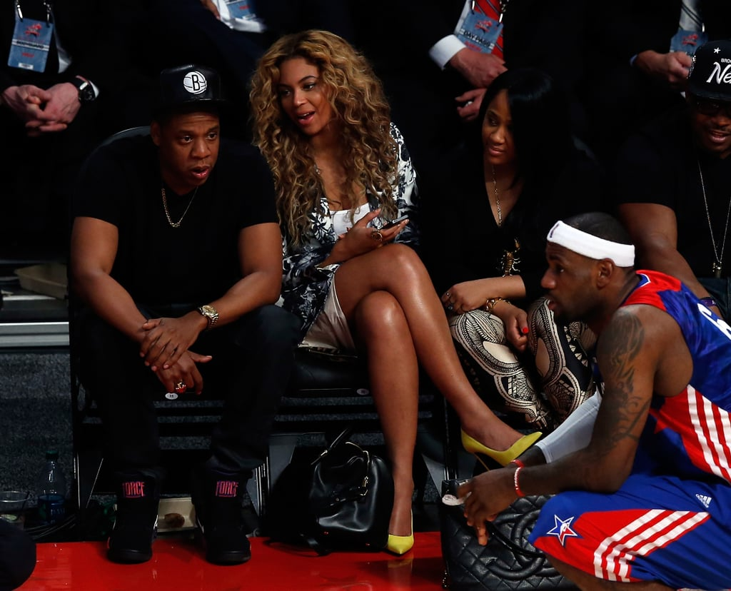Beyoncé Knowles and Jay-Z chatted in Houston.