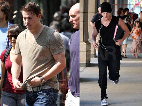 Pictures of Channing Tatum Running and Filming The Vow in Toronto