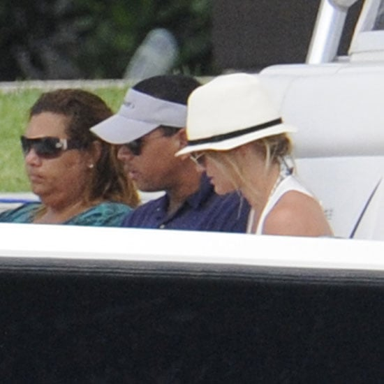 Cameron Diaz and Alex Rodriguez Boating in Miami Pictures