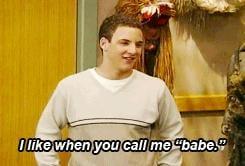 """And he's Topanga's """"babe."""""""
