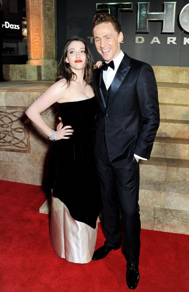 Tom Hiddleston also met up with Kat Dennings.