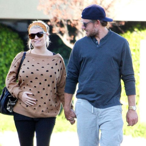Pregnant Jessica Simpson With Eric Johnson Pictures