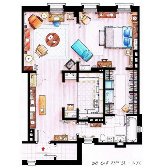 Floor Plans For Houses in TV Shows and Movies