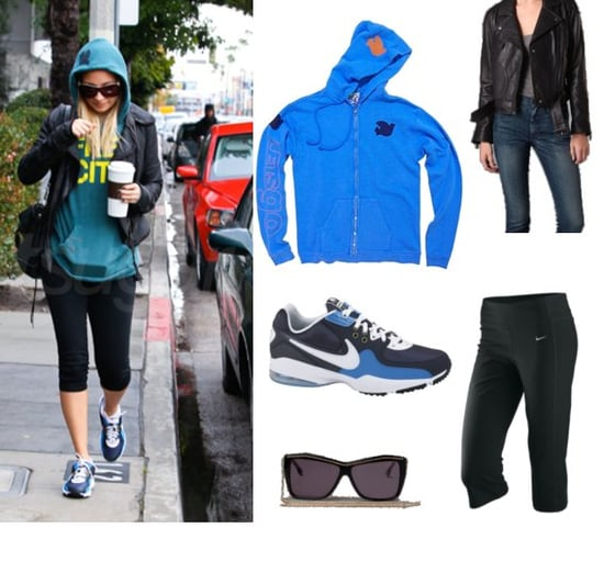 Nicole Richie Leaves Gym Wearing Free City Sweatshirt and Blue Nike Air Max Shoes
