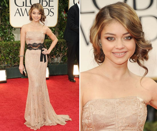 Sarah Hyland in Dolce & Gabbana at Golden Globes 2012