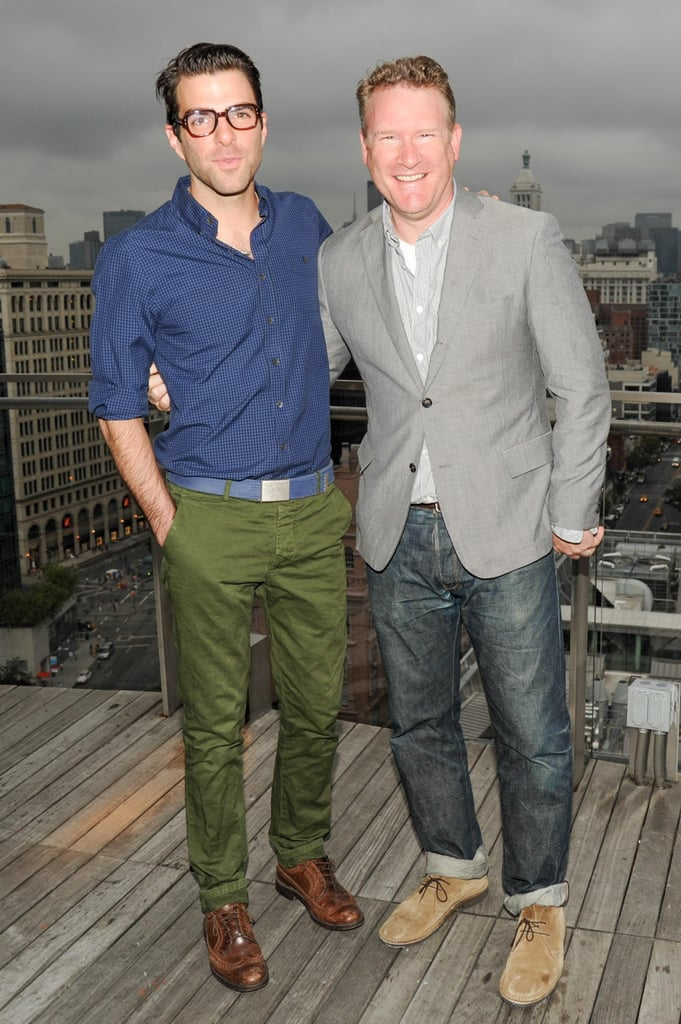 Zachary Quinto showed his support for Todd Snyder at the designer's launch party with Champion.