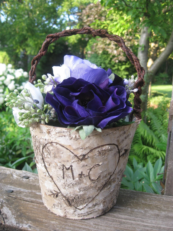 Rustic Birch Basket