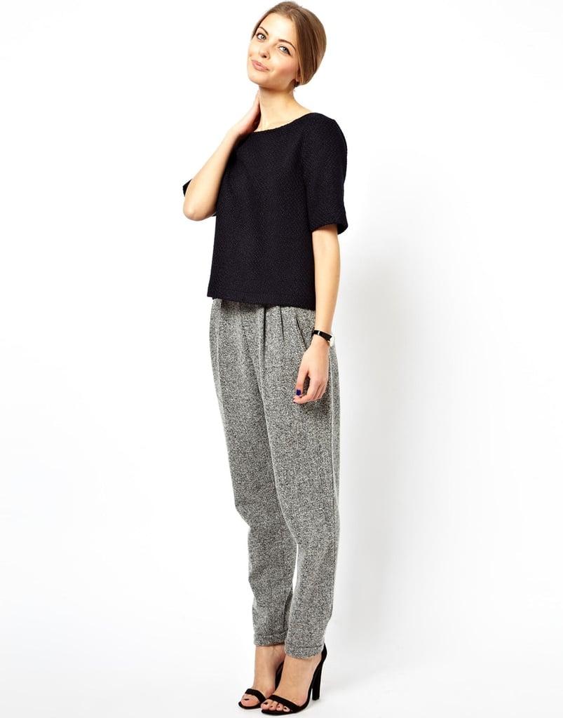 ASOS Textured Peg Pants
