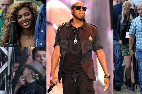 Pictures of Gwyneth Paltrow, Madonna, Jay-Z, and Beyonce Knowles at the Wireless Festival