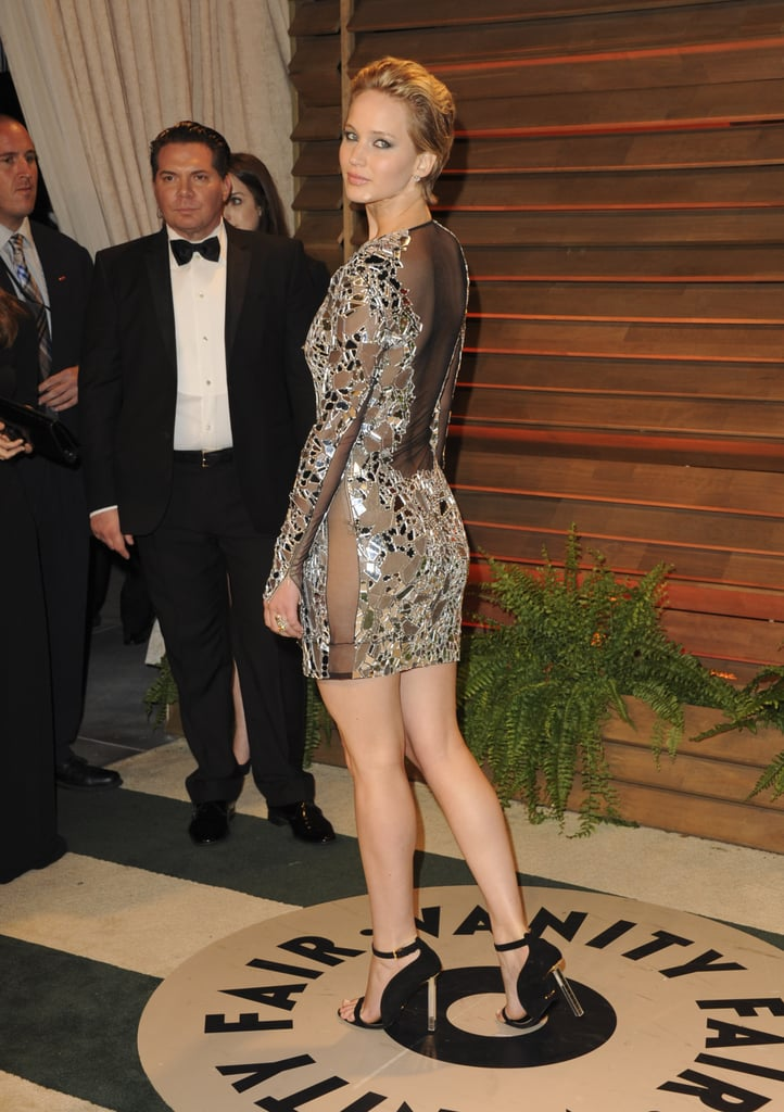 She Looked Like a Sexy Disco Ball at the Vanity Fair Party