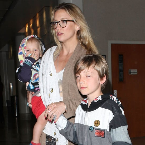 Kate Hudson at Miami Airport With Sons Bingham and Ryder