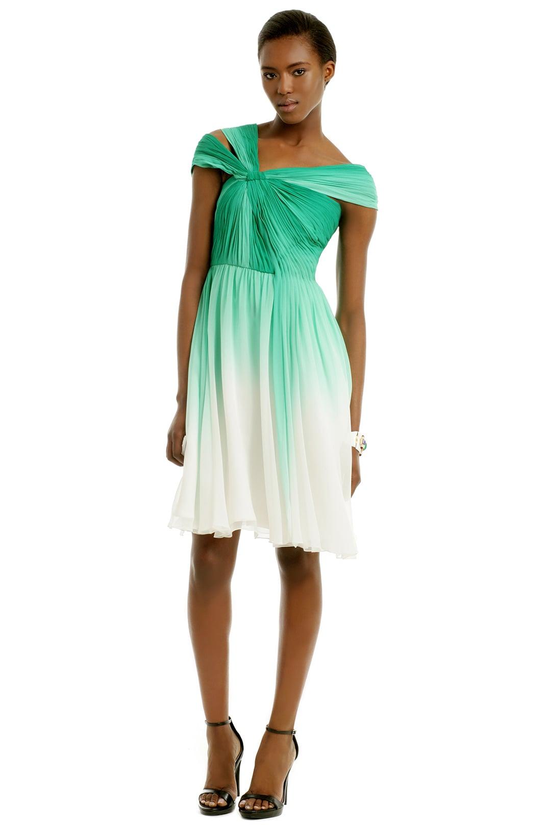 Monique Lhuillier Corsican Mint Dress
