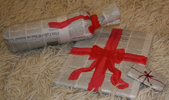 Wrap It Up: Recycle Newspaper