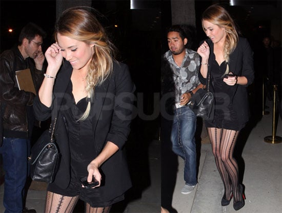 Photos of Lauren Conrad Wearing Black Leaving a Nightclub in Los Angeles