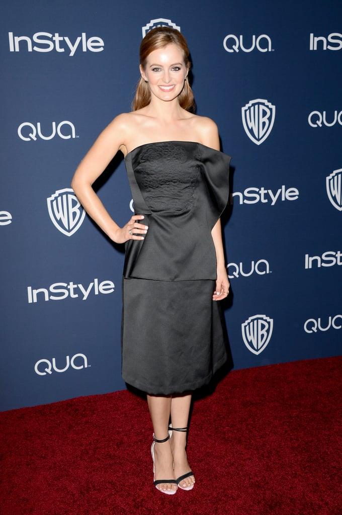 Ahna O'Reilly wore a simple black dress.