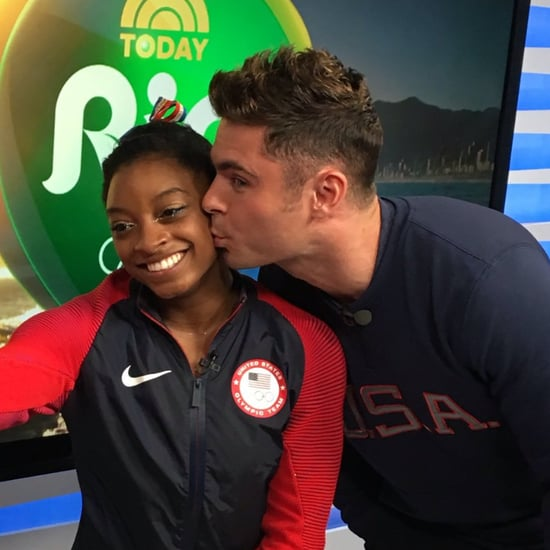 Simone Biles Interview About Zac Efron