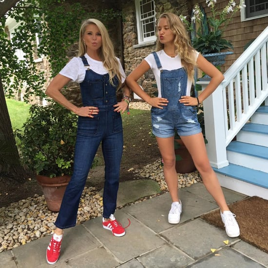 Mommy & Me! Christie Brinkley, 62, Twins with Teen Daughter Sailor in Denim Overalls