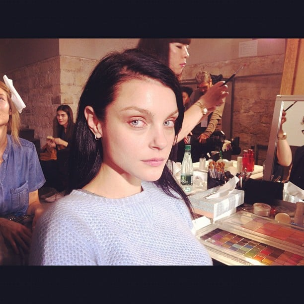 Candice Lake shared this behind-the-scenes picture she took of model Jessica Stam. Source: Tumblr user Candice Lake