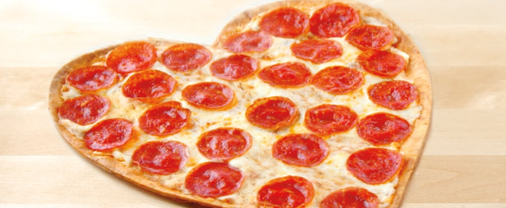 You Won't Be Able to Contain Your Excitement For This Heart-Shaped Pizza