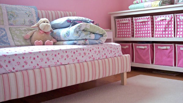 Upcycle Your Crib Mattress Into an Upholstered Toddler Bed