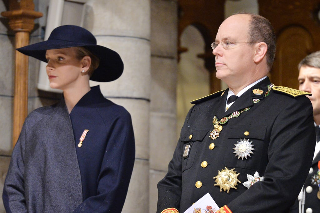 Princess Charlene and Prince Albert attended mass during the official ceremonies for the Monaco National Day in Monte Carlo on Tuesday.