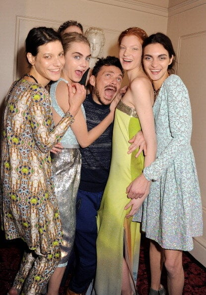 Designer Matthew Williamson was lapping up the model love after his eponymous label's show at London Fashion Week. Source: Twitter user MWWorld