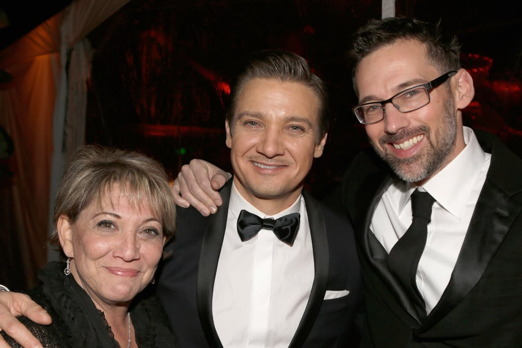 Jeremy Renner cozied up with friends after the 70th Annual Golden Globe Awards.