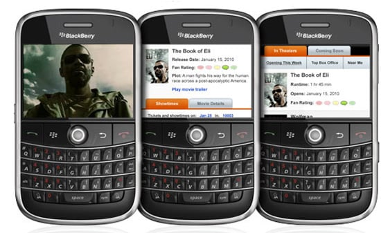 Find Movies Near You With the Fandango App for BlackBerry