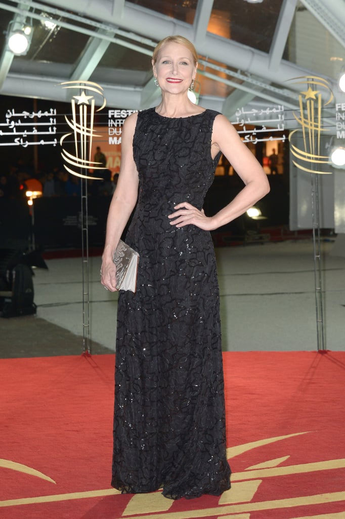 Patricia Clarkson in Embellished Black Dior Gown