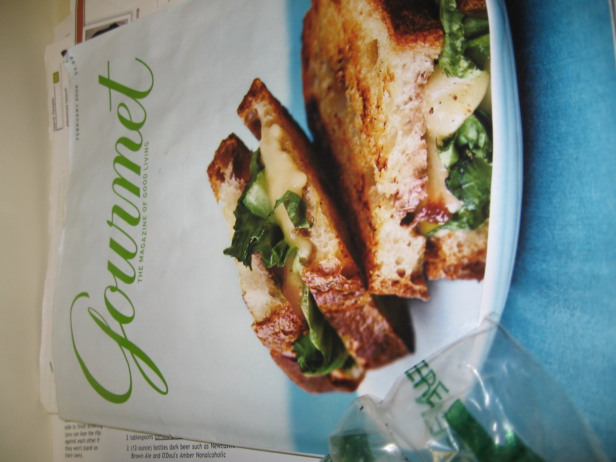 Cooking the Cover: Gourmet's Grilled Cheese