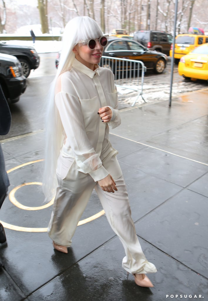 Lady Gaga left a filming of The Tonight Show Starring Jimmy Fallon in NYC on Tuesday.