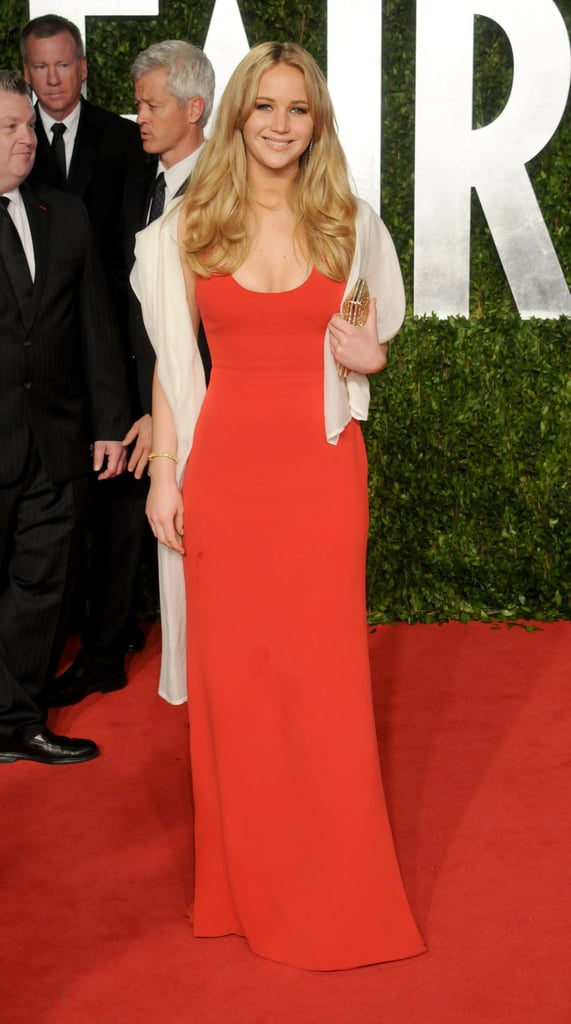 Sometimes the simplest gown can be the chicest, as shown by the red dress Jennifer Lawrence wore to the Vanity Fair Oscars afterparty in 2011.