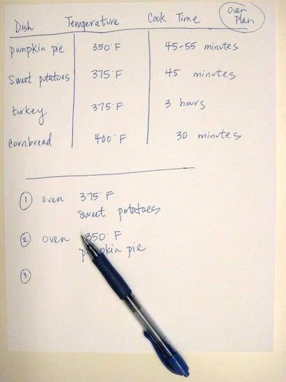 Thanksgiving Tip: Make an Oven Plan