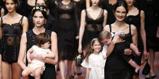 Dolce & Gabbana's Fall 2015 Show Celebrates 'Mamma' With Baby-Filled Runway