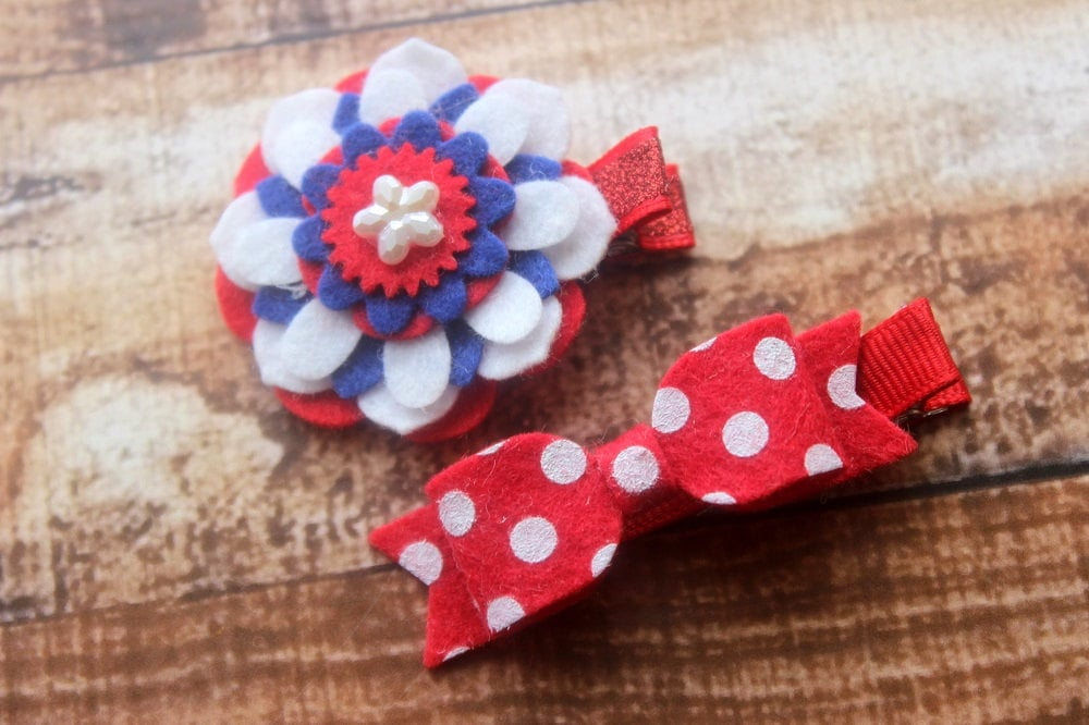 Wear This: Fourth of July Hair Cip Set