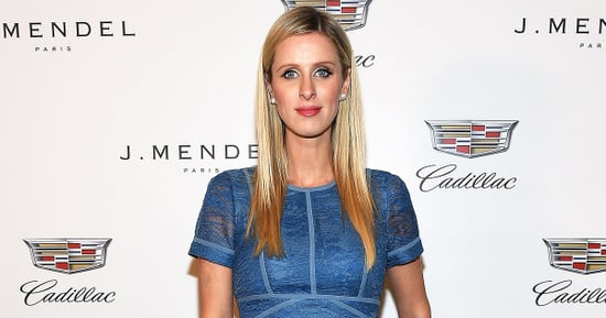 Pregnant Nicky Hilton Debuts Her Baby Bump in Blue Lace Dress at New York Fashion Week