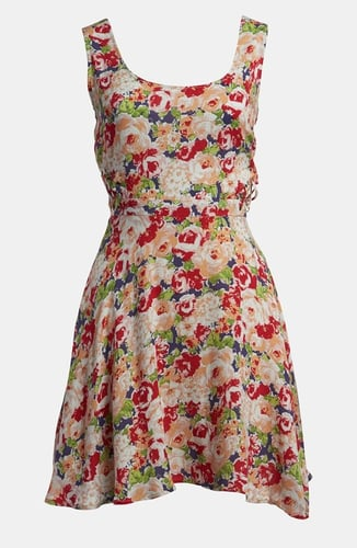 Lucca Couture Side Cutout Floral Print Sundress