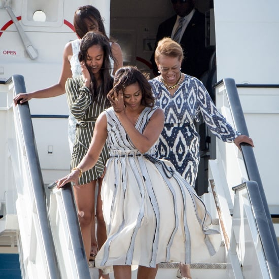 Michelle Obama's Dress Arriving in Spain June 2016