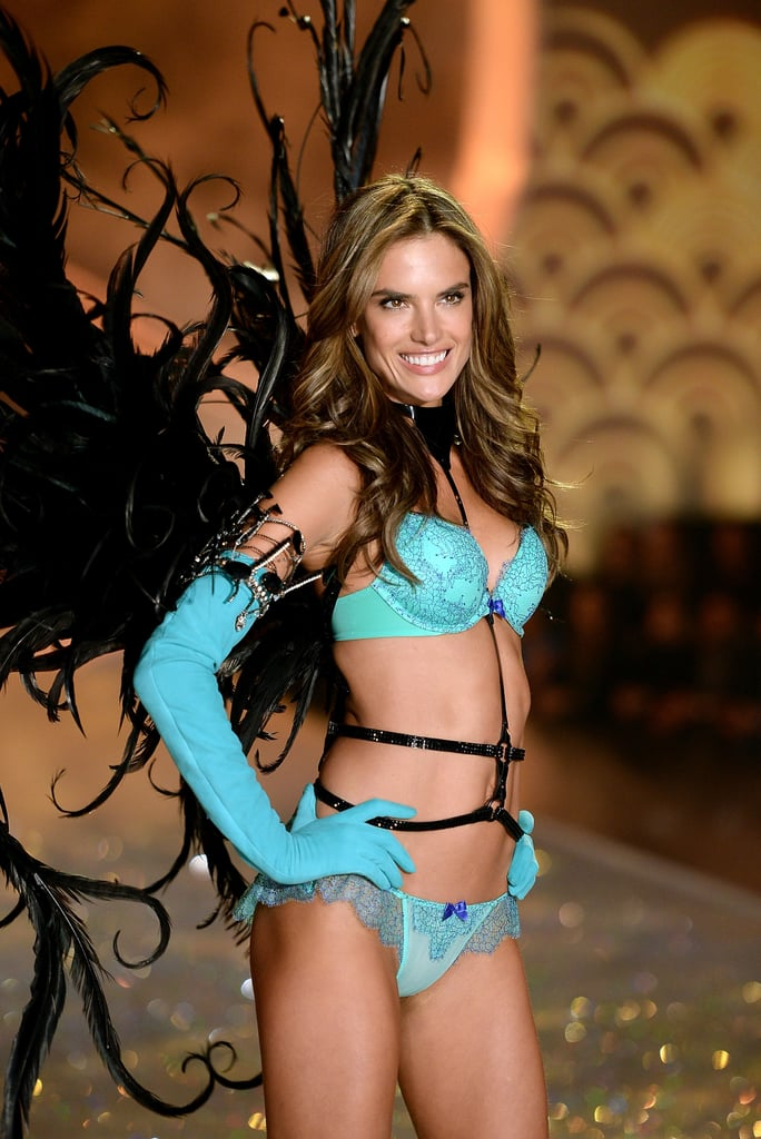 Alessandra Ambrosio flashed her big smile when she worked the catwalk. in 2013.