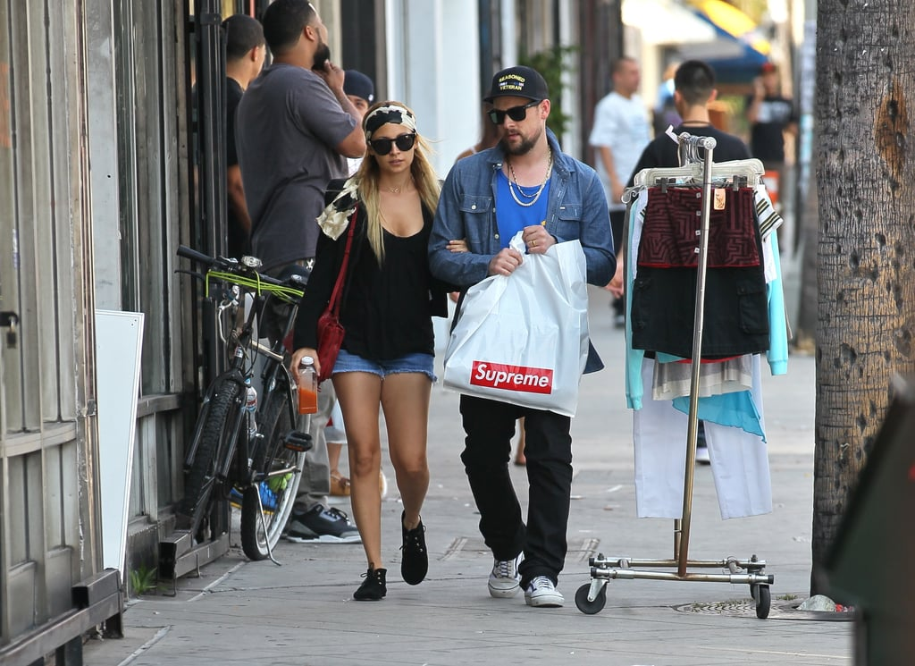 Nicole Richie shopping with husband Joel Madden.