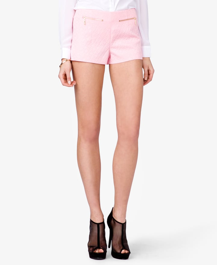Get in touch with your inner girlie girl with these Forever 21 pink retro woven shorts ($16).